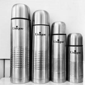 سایز های مختلف سری استیل قلمی از فلاسک های یونیک